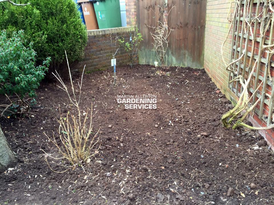 Stone garden weeding - after
