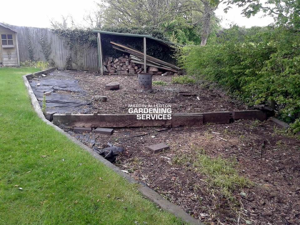 Hilderstone garden clearance - before