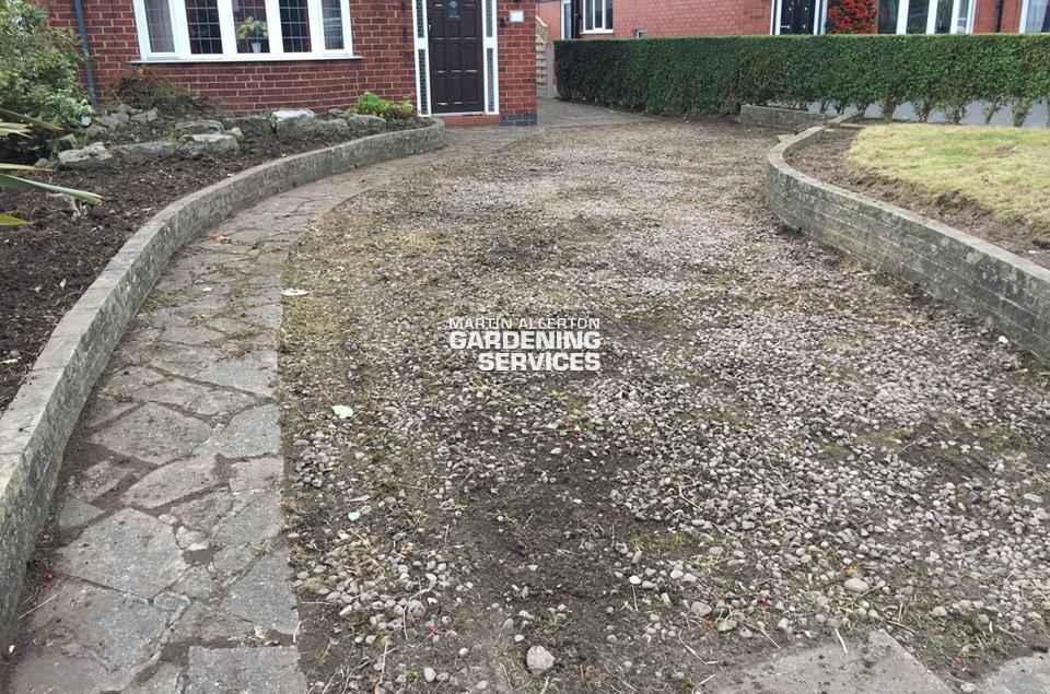Stone driveway - after