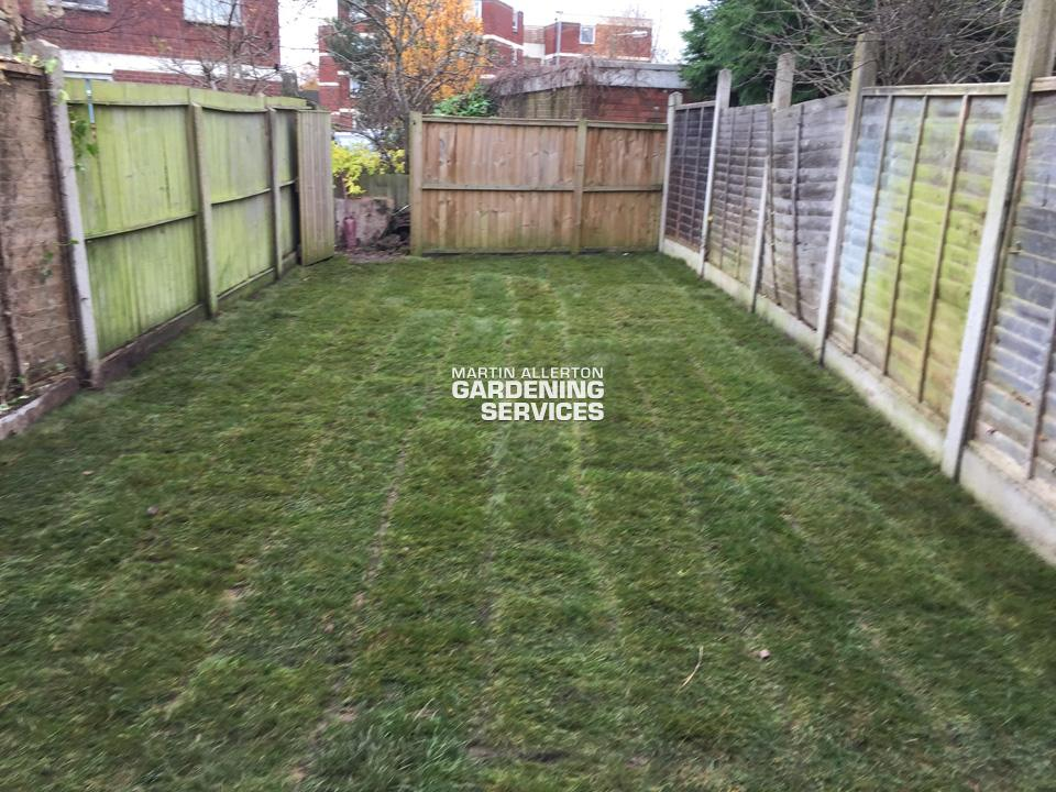 Stafford garden clearance and turfing - after