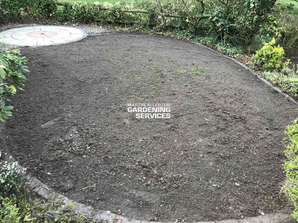 Meaford laying new lawn - before