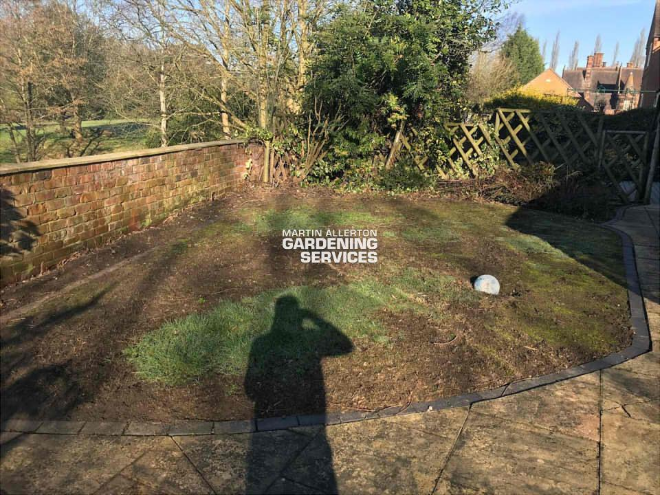 Meaford new lawn being laid - before