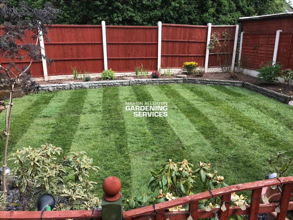 Great Haywood new lawn laid - after