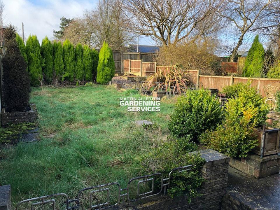 Stone back garden tidy - before